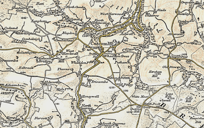 Old map of Wheddon Cross in 1898-1900
