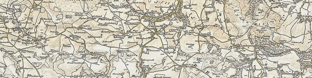 Old map of White Moor in 1898-1900