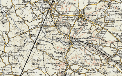 Old map of Wheelock in 1902-1903