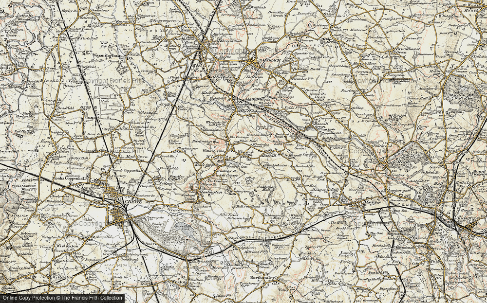 Old Map of Wheelock Heath, 1902-1903 in 1902-1903