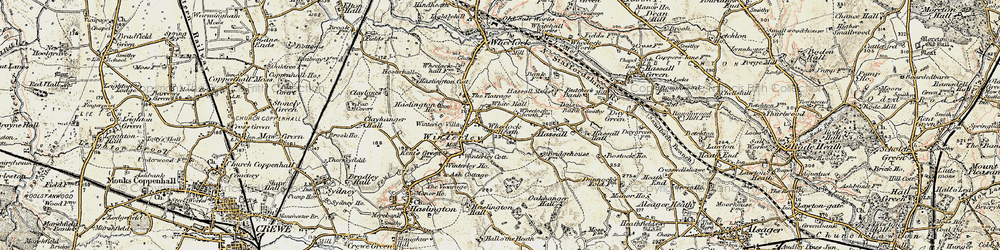 Old map of Wheelock Heath in 1902-1903