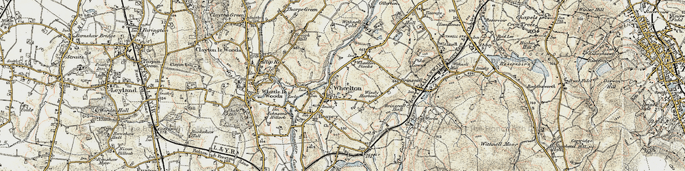 Old map of Wheelton in 1903