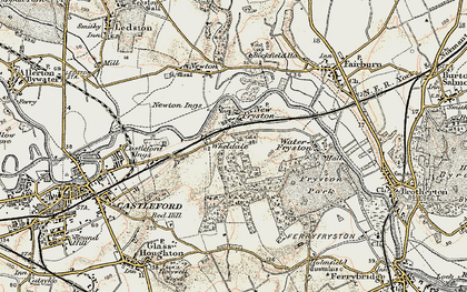 Old map of Wheldale in 1903