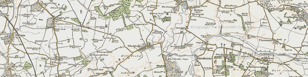 Old map of Wheldrake Grange in 1903