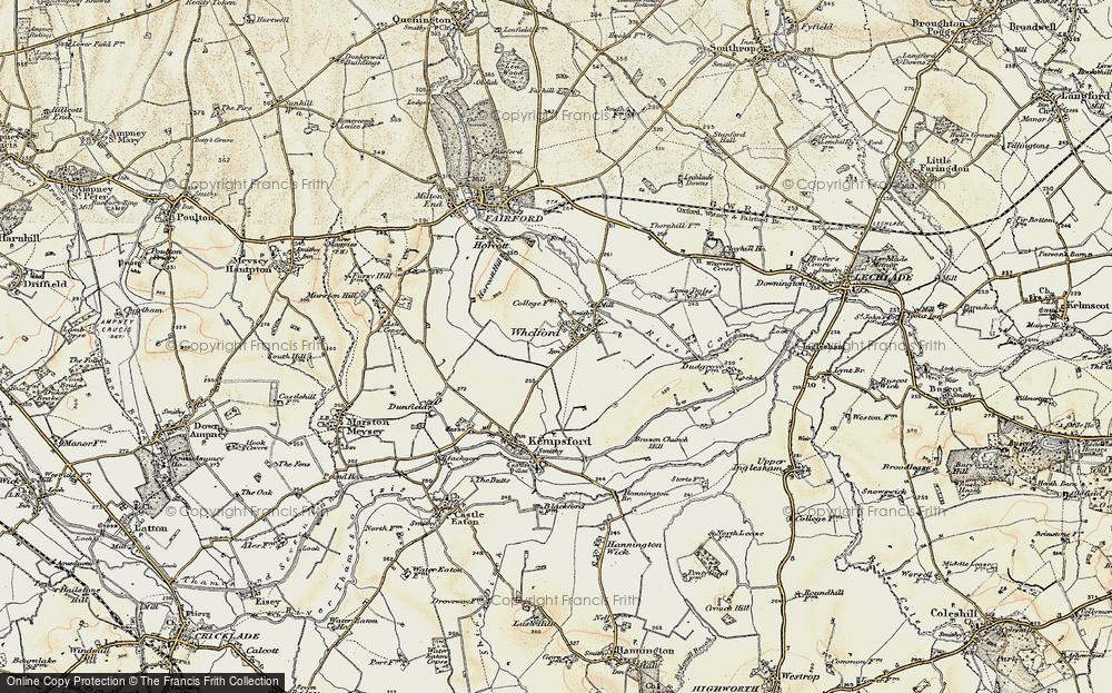 Old Map of Whelford, 1898-1899 in 1898-1899