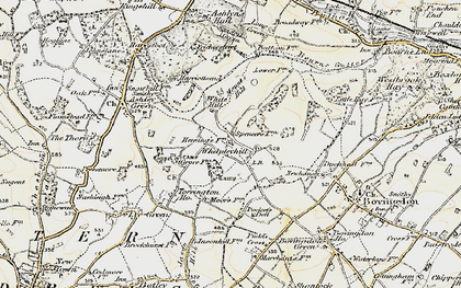 Old map of White Hill in 1897-1898