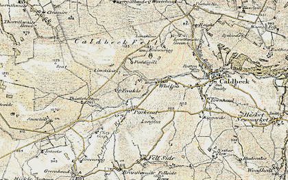 Old map of Whelpo in 1901-1904