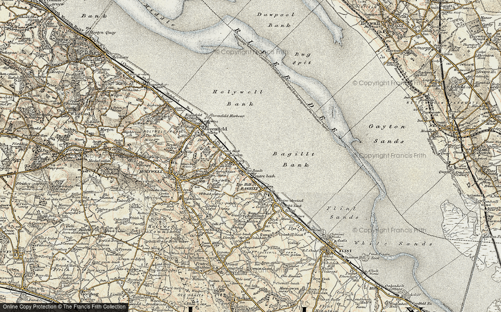 Old Map of Whelston, 1902-1903 in 1902-1903
