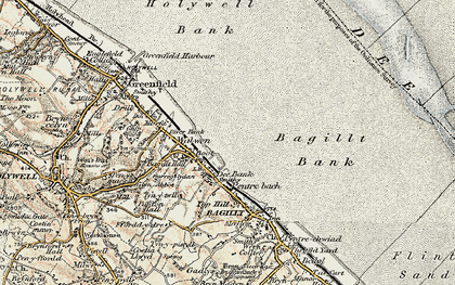 Old map of Whelston in 1902-1903