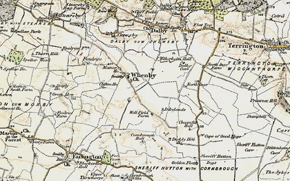 Old map of Whenby in 1903-1904