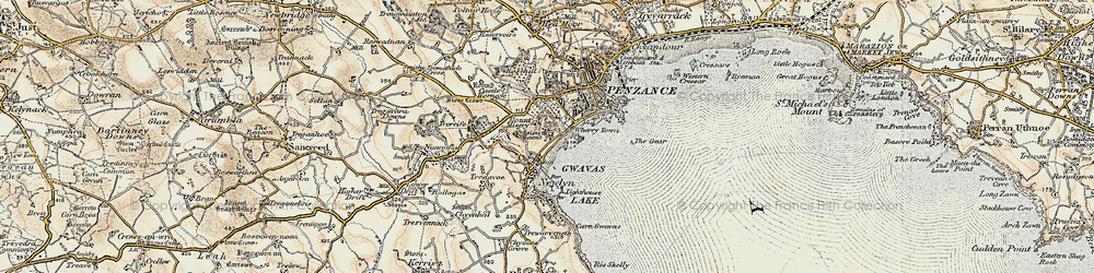 Old map of Wherry Town in 1900