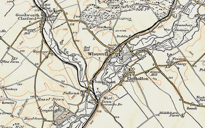 Old map of Wherwell in 1897-1900