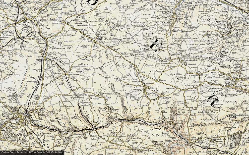 Old Map of Wheston, 1902-1903 in 1902-1903