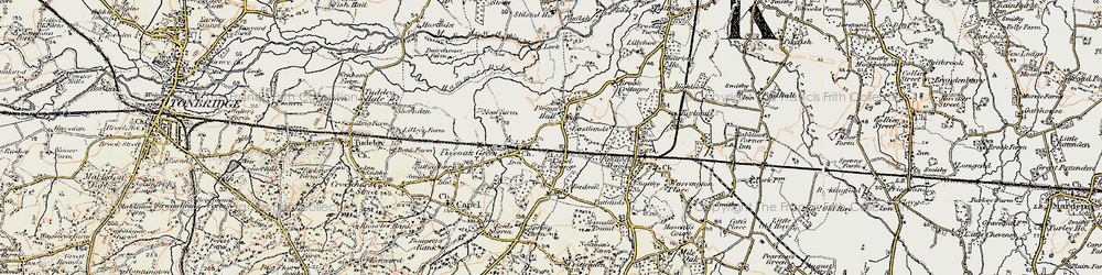 Old map of Whetsted in 1897-1898
