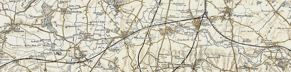 Old map of Whetstone in 1901-1903