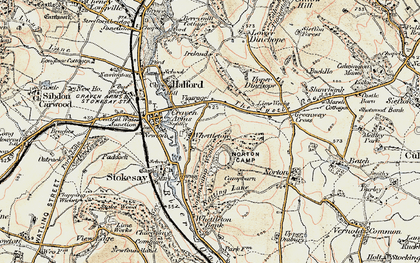 Old map of Whettleton in 1901-1903