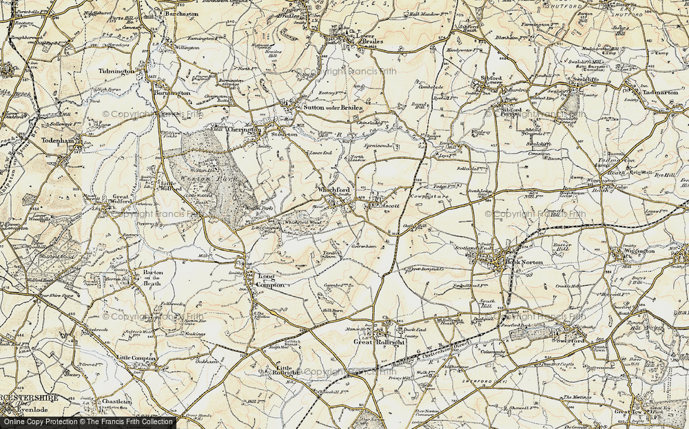 Old Map of Whichford, 1898-1901 in 1898-1901