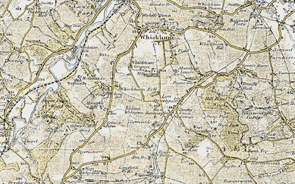 Old map of Whickham Fell in 1901-1904