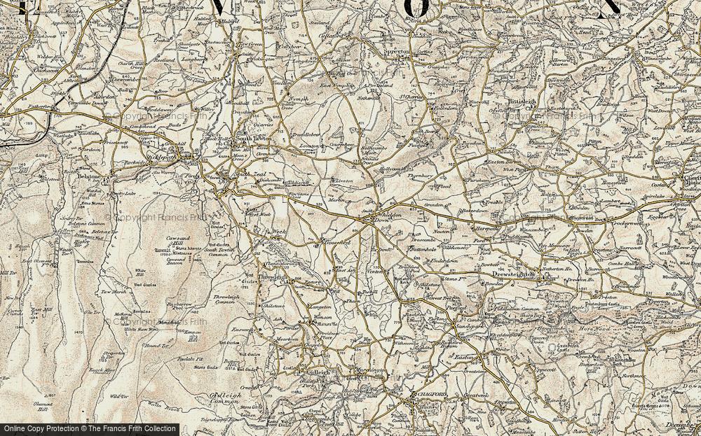 Whiddon Down, 1899-1900