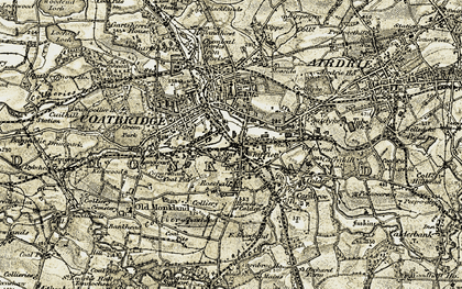 Old map of Whifflet in 1904-1905