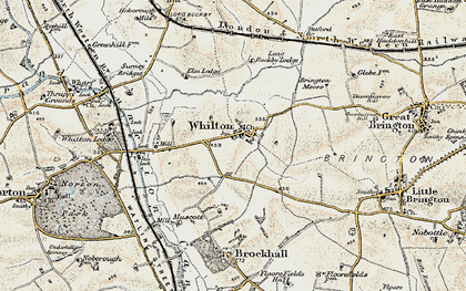Old map of Whilton in 1898-1901