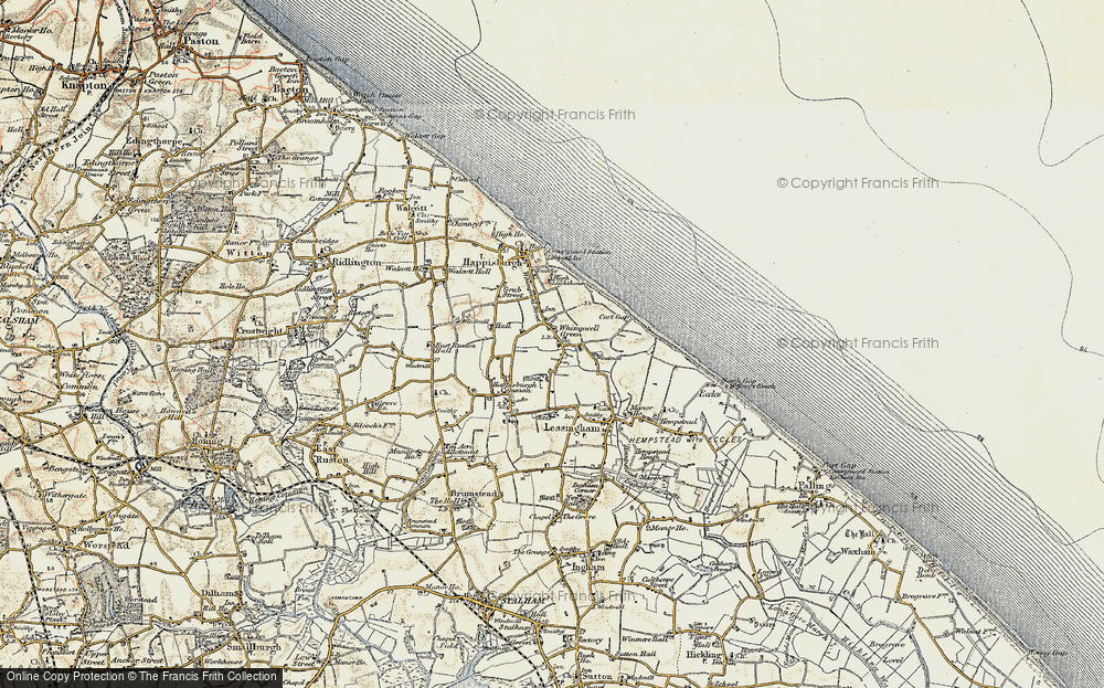 Old Map of Whimpwell Green, 1901-1902 in 1901-1902