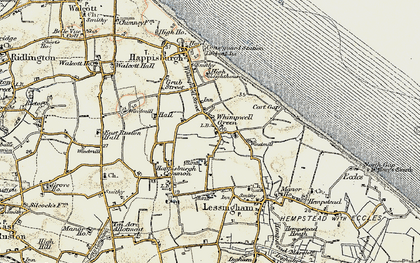 Old map of Whimpwell Green in 1901-1902