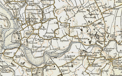 Old map of Whin Lane End in 1903-1904