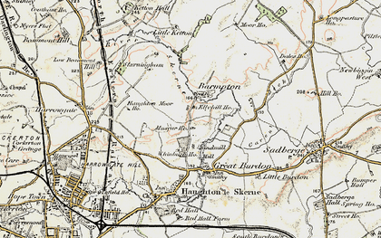 Old map of Whinfield in 1903-1904