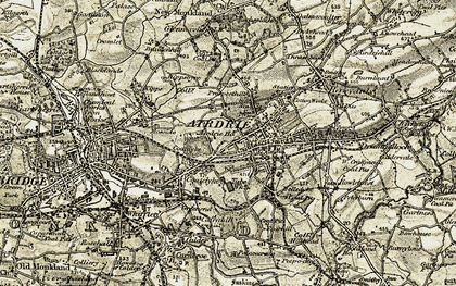 Old map of Whinhall in 1904-1905