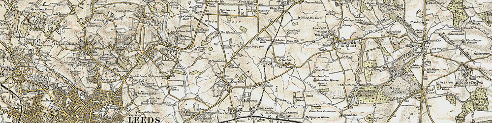 Old map of Whinmoor in 1903-1904