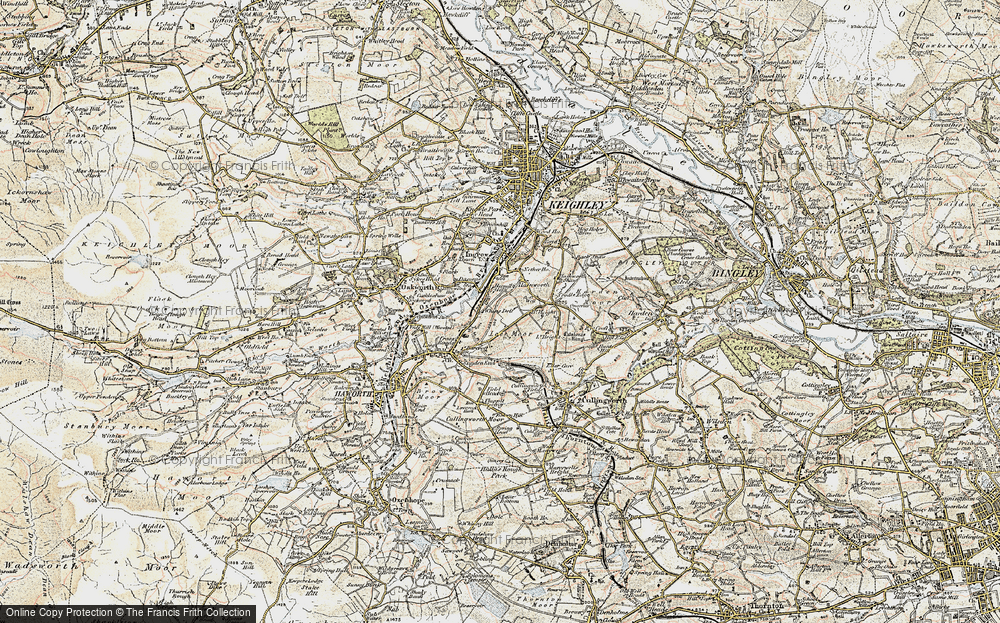 Old Map of Historic Map covering Lees Moor in 1903-1904