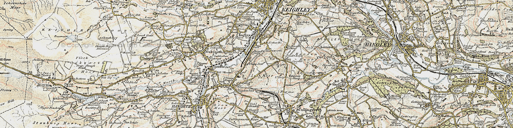 Old map of Whins Wood in 1903-1904
