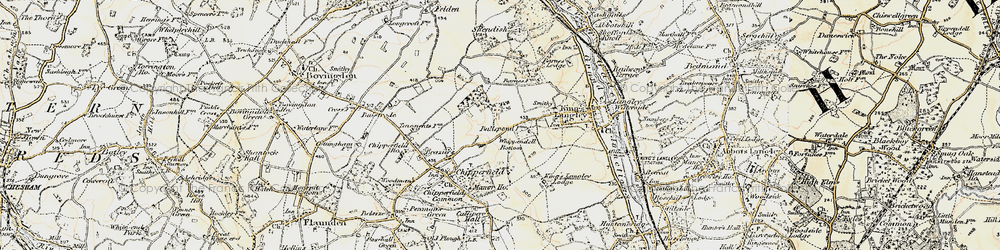Old map of Whippendell Bottom in 1897-1898