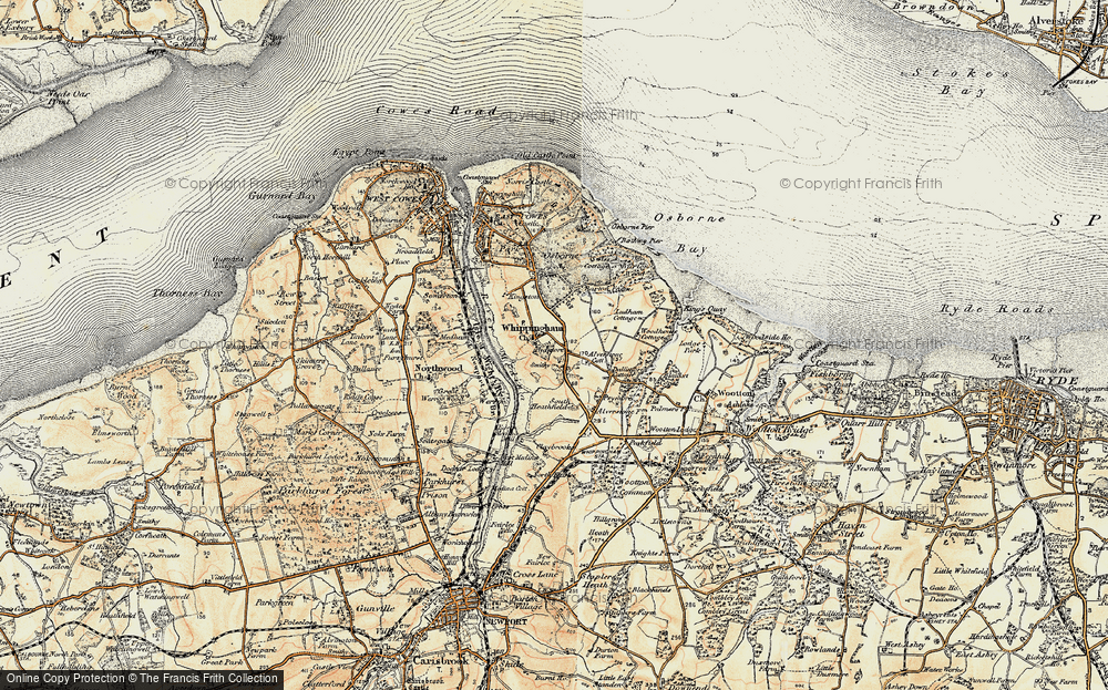 Old Map of Whippingham, 1899 in 1899