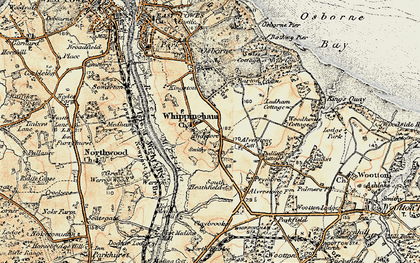 Old map of Whippingham in 1899