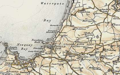 Old map of Whipsiderry in 1900