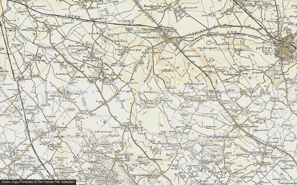 Old Map of Whipsnade, 1898-1899 in 1898-1899