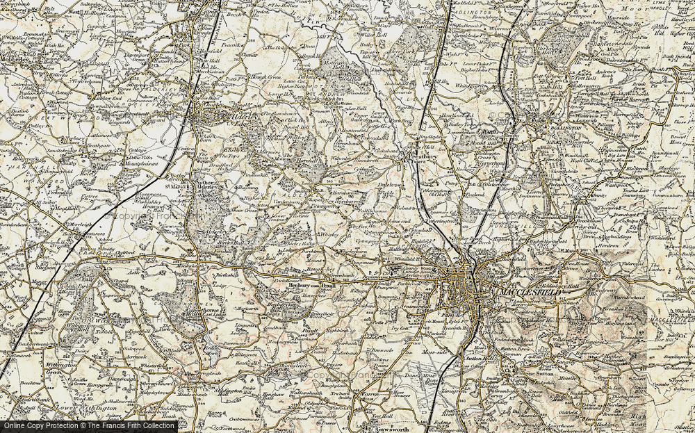 Old Map of Whirley Grove, 1902-1903 in 1902-1903