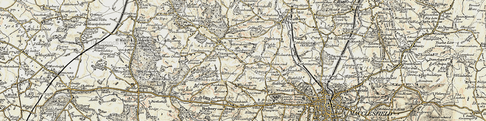 Old map of Whirley Grove in 1902-1903