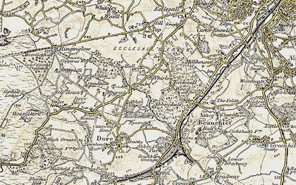 Old map of Whirlow in 1902-1903