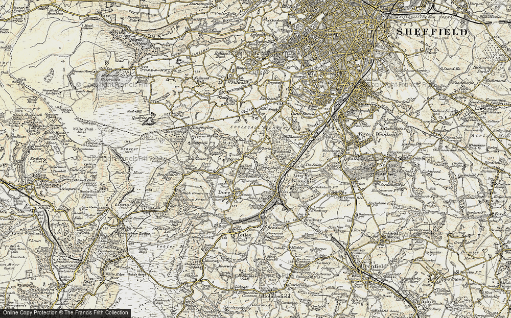 Old Map of Whirlow Brook, 1902-1903 in 1902-1903