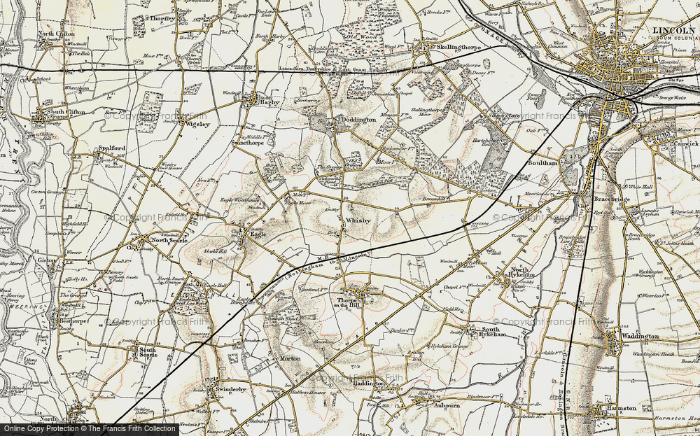 Old Map of Whisby, 1902-1903 in 1902-1903