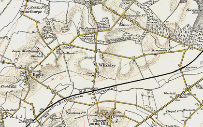 Old map of Whisby in 1902-1903
