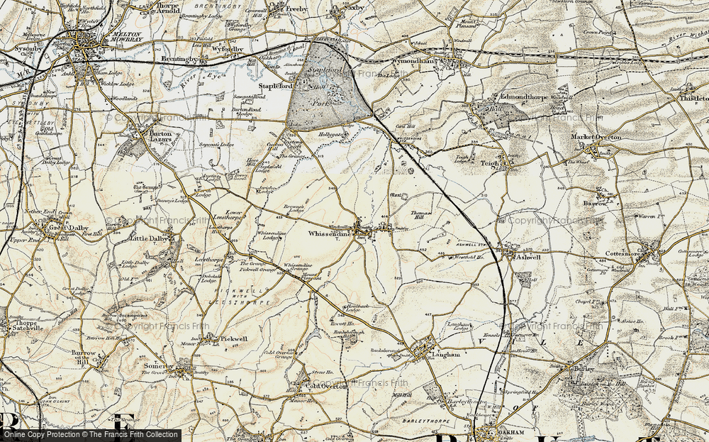 Old Map of Whissendine, 1901-1903 in 1901-1903