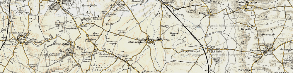 Old map of Whissendine in 1901-1903