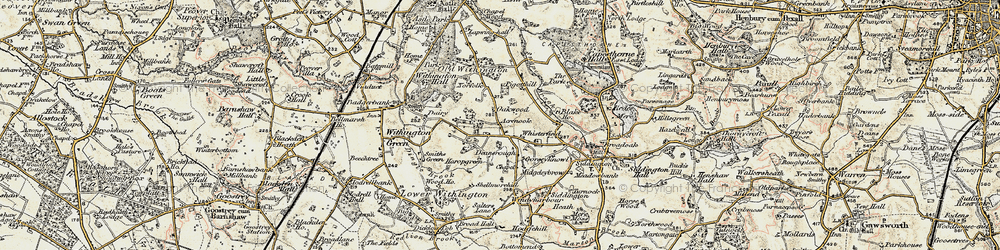 Old map of Whisterfield in 1902-1903