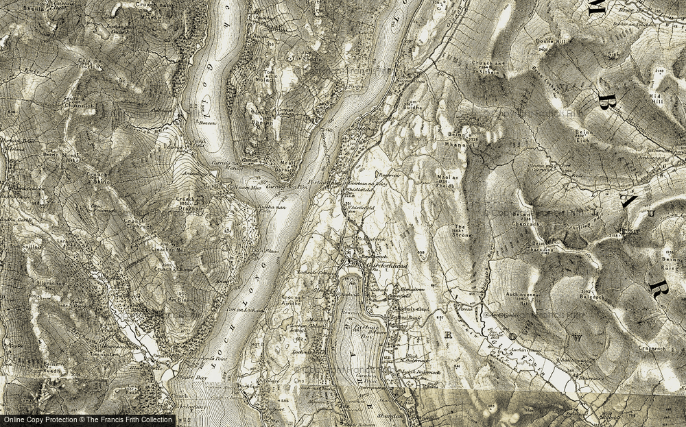 Old Map of Whistlefield, 1905-1907 in 1905-1907