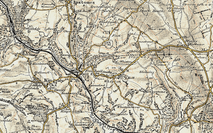 Old map of Whiston in 1902