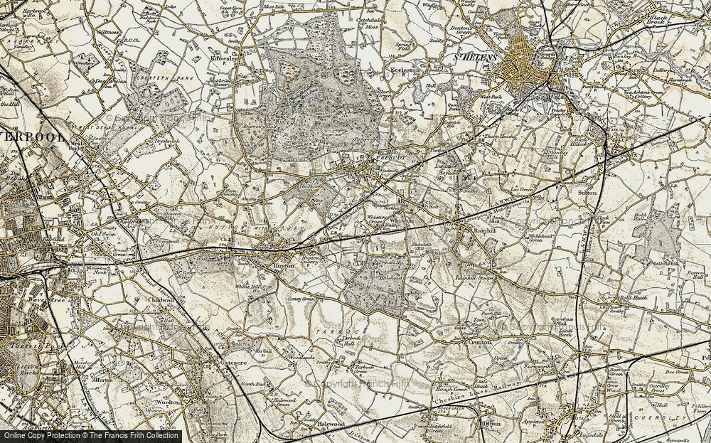 Old Map of Whiston Cross, 1902-1903 in 1902-1903